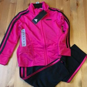 NWT Adidas Tracksuit - Black and Pink